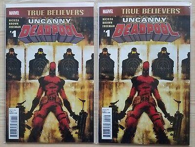True Believers Uncanny Deadpool #1 Reprints Cable Deadpool #38 - 1st & 2nd Print
