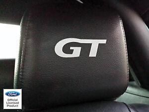... 2004-FORD-MUSTANG-HEADREST-GT-DECALS-ONLY-LEATHER-SEATS-FORD-LICENSED