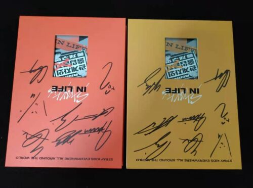 hand signed Stray Kids autographed 1st album IN LIFE CD+photobook 012021