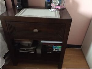 2 wood end tables / side tables w