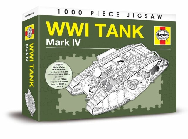 WWI TANK MARK IV - 1000 PIECE HAYNES JIGSAW PUZZLE World war one (WW1)