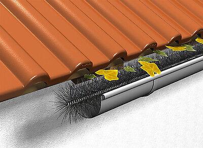 Dachrinnen Laubschutz conip dachrinnen laubschutz dachrinnenbürste rinnenraupe 120 cm x ø