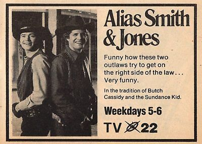 Wwlp Tv Ad Alias Smith   Jones Pete Duel   Ben Murphy Springfield Massachusetts
