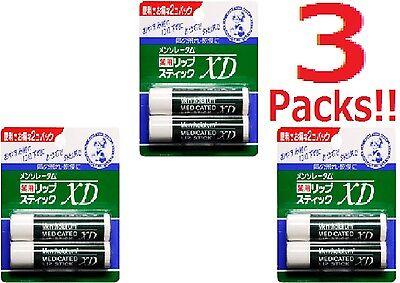 3 Packs japanese Mentholatum medicated lip cream stick XD All Skin Types Unisex
