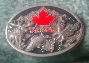 Vintage  canada  metal belt buckle  serial numbered price firm