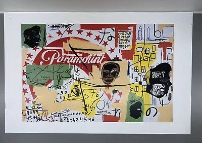 """Jean-Michel Basquiat & Andy Warhol """"Paramount"""" Poster Print 11x17 Inches"""