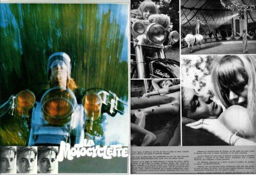 Marianne FAITHFULL Alan DELON  French Pressbook THE GIRL ON MOTOCYCLE