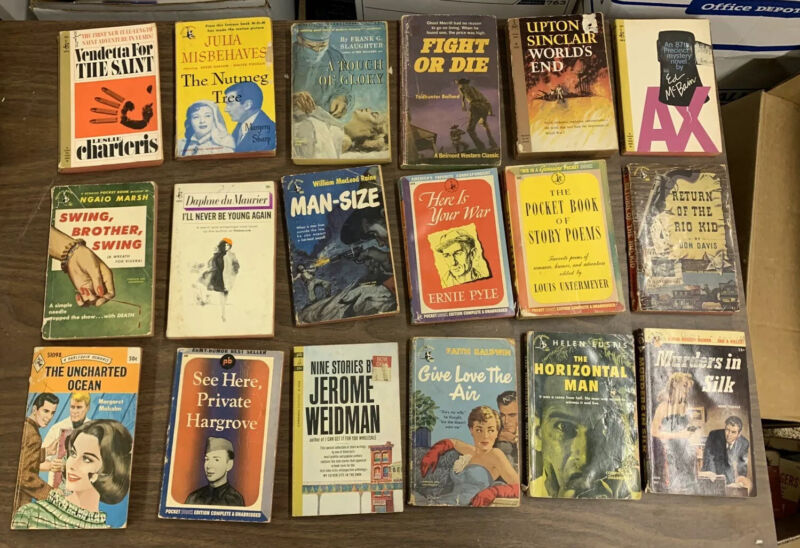 Lot of 18 Classic Paperback Novels from 1950