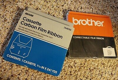 2 Typewriter Electronic Sears Cassette Carbon Film Ribbon 54030 Bro Correctable