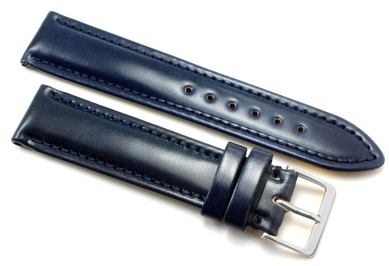 20mm HORWEEN GENUINE SHELL CORDOVAN Uhrenarmband Deutscher Hersteller Graf Band