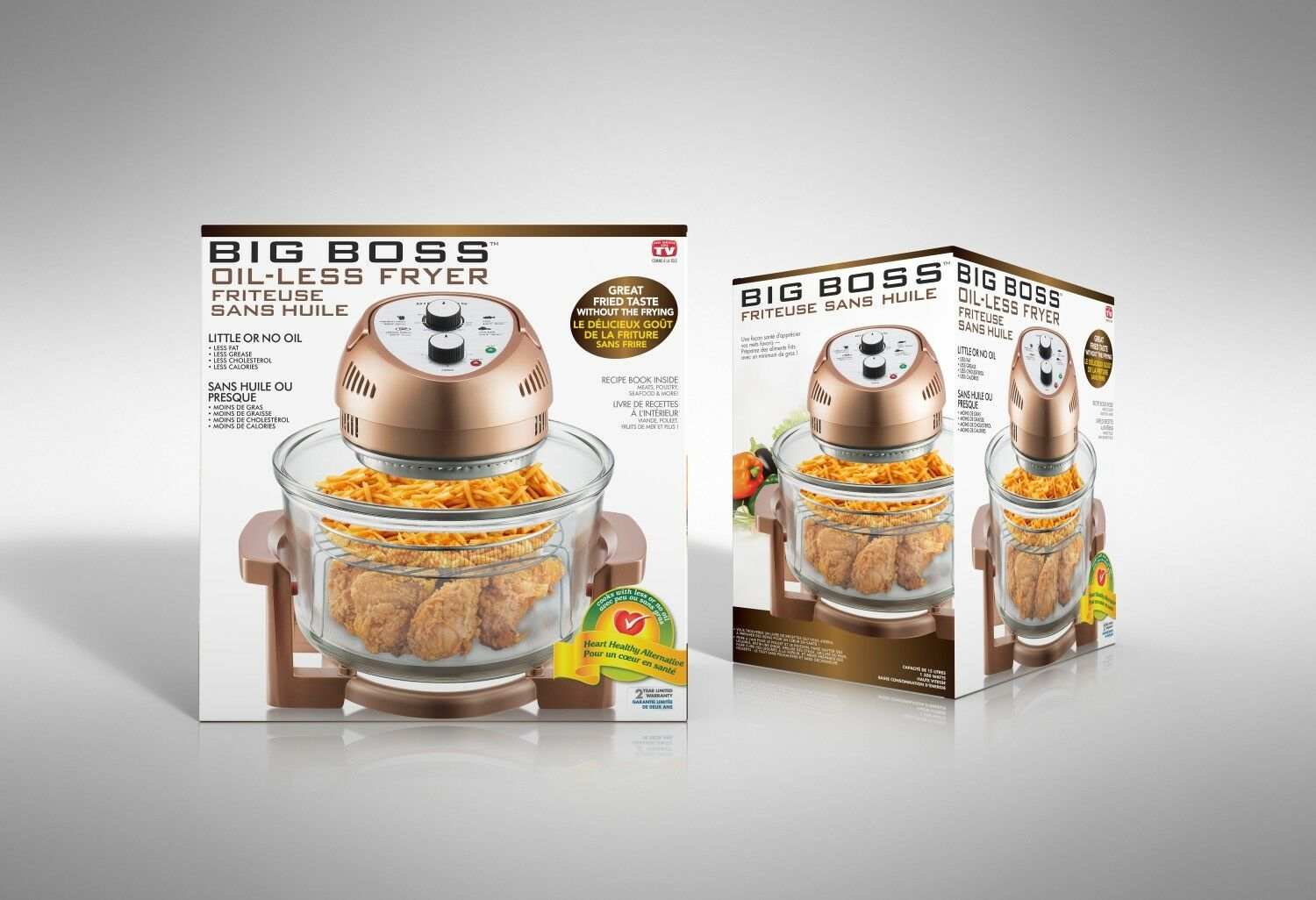 Купить Big Boss - Big Boss Air Fryer Healthy 1300-Watt XL 16-Quart + 50 Recipe Cookbook, 7 Colors!
