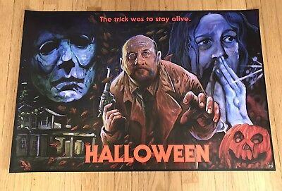 HALLOWEEN MICHAEL MEYERS John Carpenter LTD ED SLASHER Movie Poster ONLY 100!!