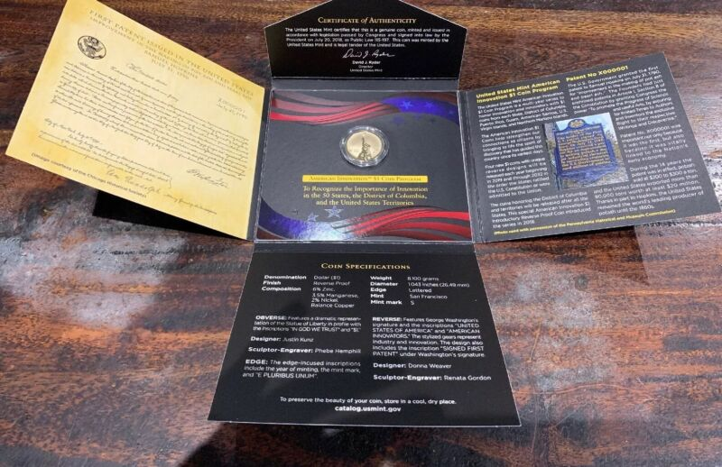 2018 S $1 REVERSE PROOF AMERICAN Innovation Intoductory Dollar Coin. In Stock