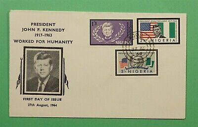 DR WHO 1964 NIGERIA FDC JFK JOHN F KENNEDY  C241257
