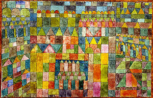 PAUL KLEE :: THE TEMPLE DISTRICT OF PERT :: 24
