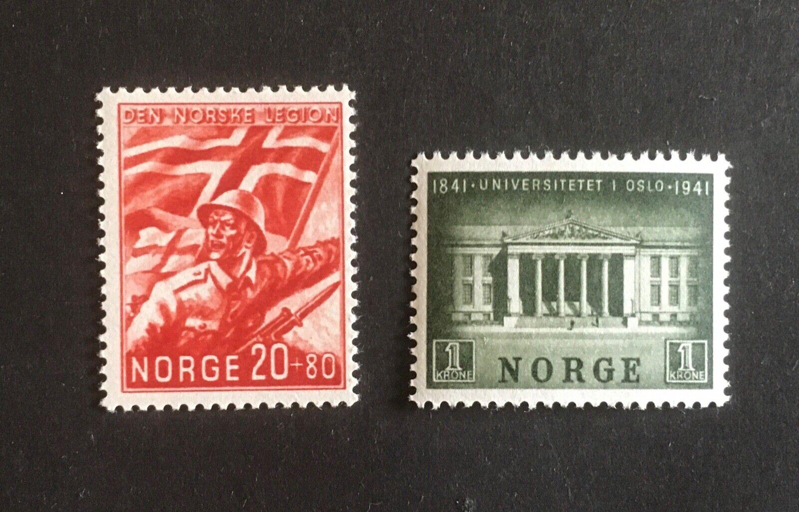 Michel Nr 236 + 258 Norwegen 1941 Postfrisch MNH