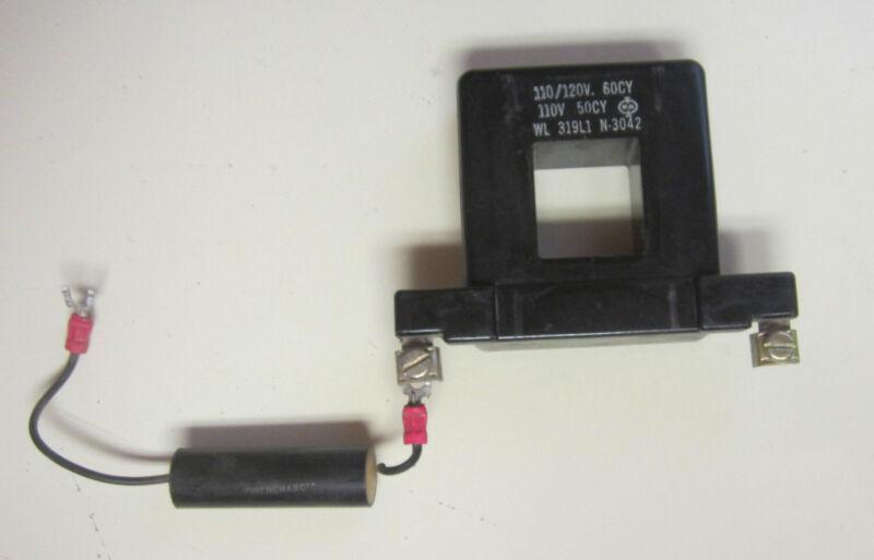 WL WARD LEONARD 319L1 CONTROL COIL 110/120V 60CY 319 L1 CONTACTOR STARTER