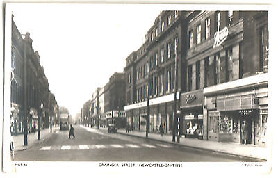 OLD POSTCARD GRAINGER STREET, NEWCASTLE-ON-TYNE.TUCK CARD. REAL PHOTOGRAPH 1950s