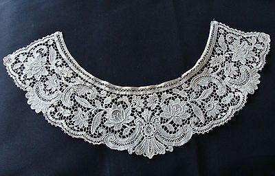 Antique Schiffli Guipure Cotton Lace Collar