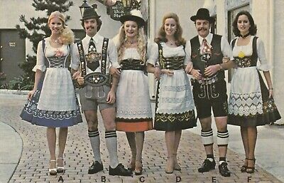 Traditional German Clothing (*Postcard-