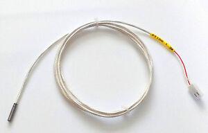 PT100-Thermistor-3mm-x-15mm-Sensor-1-3m-Blindado-Cable-3d-impresoras-UM2