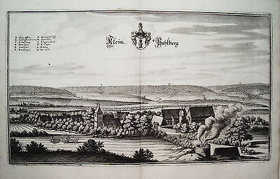 Valberg Gipsofen  Niedersachsen seltener  Merian Kupferstich  Erstausgabe 1654