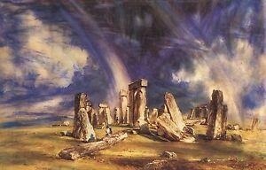 Stonehenge Landscape by John Constable Cotton Canvas or Fine Art Print Poster