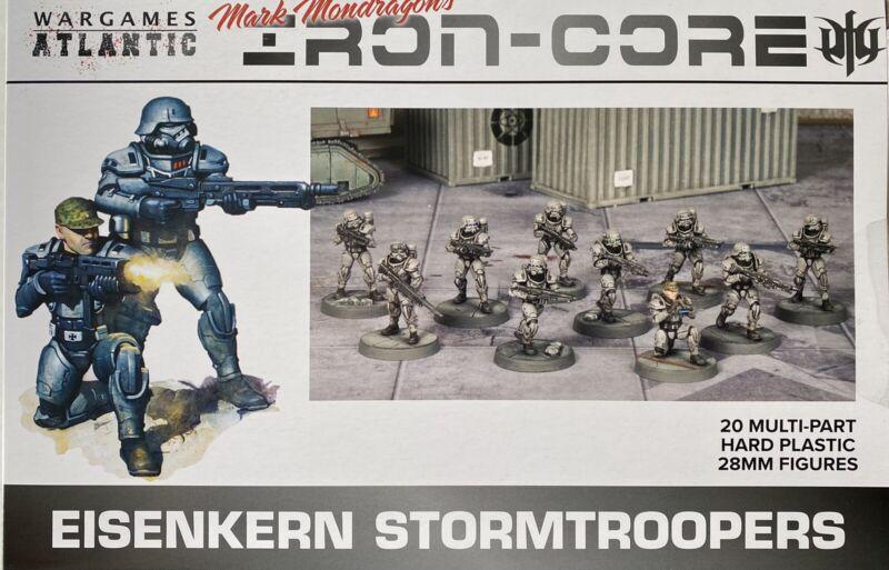 Wargames Atlantic Eisenkern Stormtroopers NEW • 1 Sprue • 5 Minis • Iron-Core