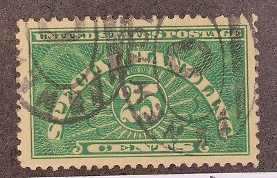 Scott QE4 - 25 Cents Special Handling - Used - Very Well Centered