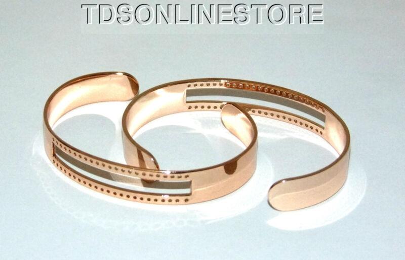 Centerline Rose Gold Plated Adjustable Bracelet Cuffs Package Of 2