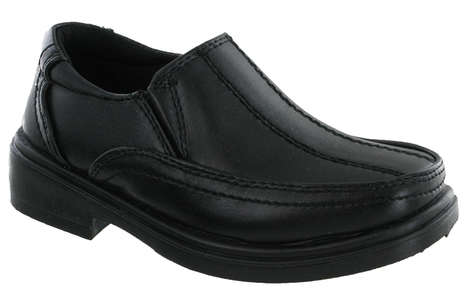faa143d5e83d4 U. s ottone scuola nero Smart formale Casual Slip On ragazzi scarpe per  bambini