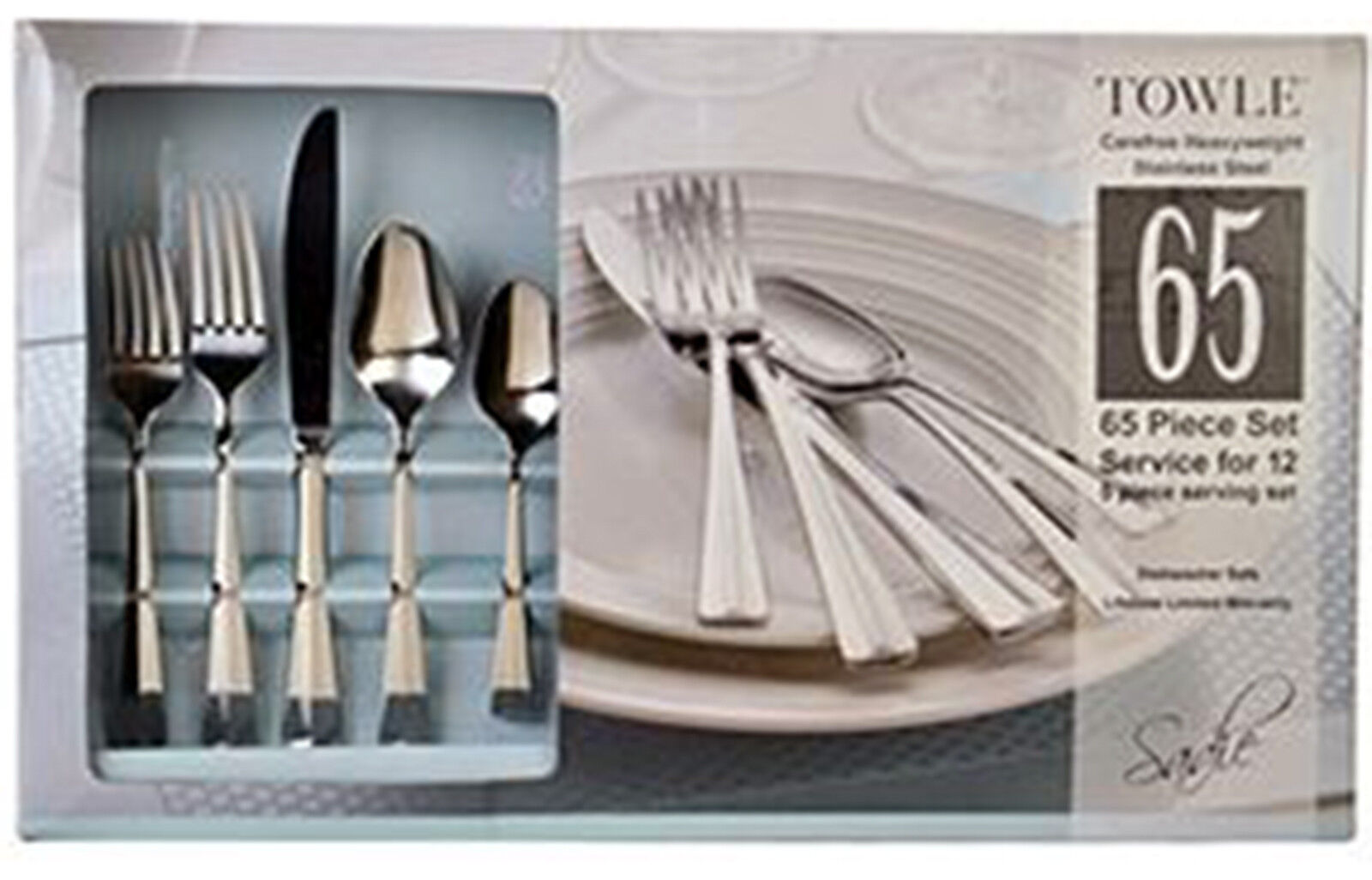 sadie pattern dinnerware 65 piece stainless flatware