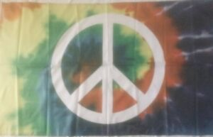 PEACE SIGN FLAG 3' X 5' POLYESTER