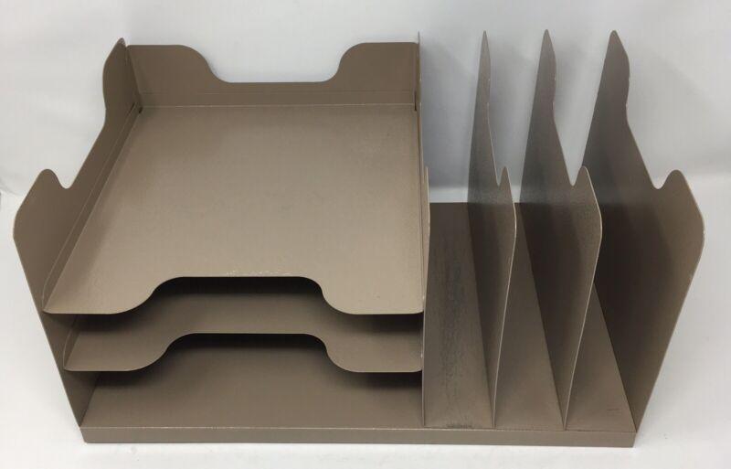 Buddy Products Steel Metal Desk Organizer 3 Vertical 3 Horizontal