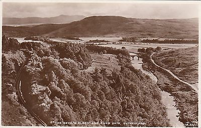 Postcard - Sutherland - The Devil's Elbow and River Shin