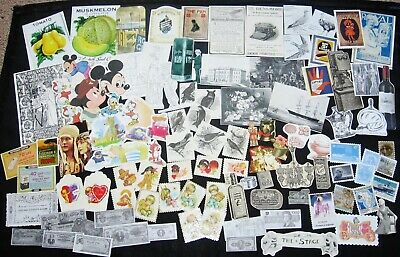 100+pc SMALL Vtg Paper Cut Outs~Junk Journal Art Collage Scrap Pack Supply Lot#1 Small Circle Cut Outs