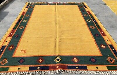 brown rug vintage rug turkey rug boho decor rug Free Shipping wool rug floor rug bohemian rug area rug turkish rug 1.4 x 2.2 ft