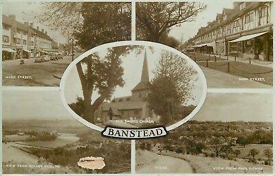 s09551 Banstead, Surrey, England RP postcard
