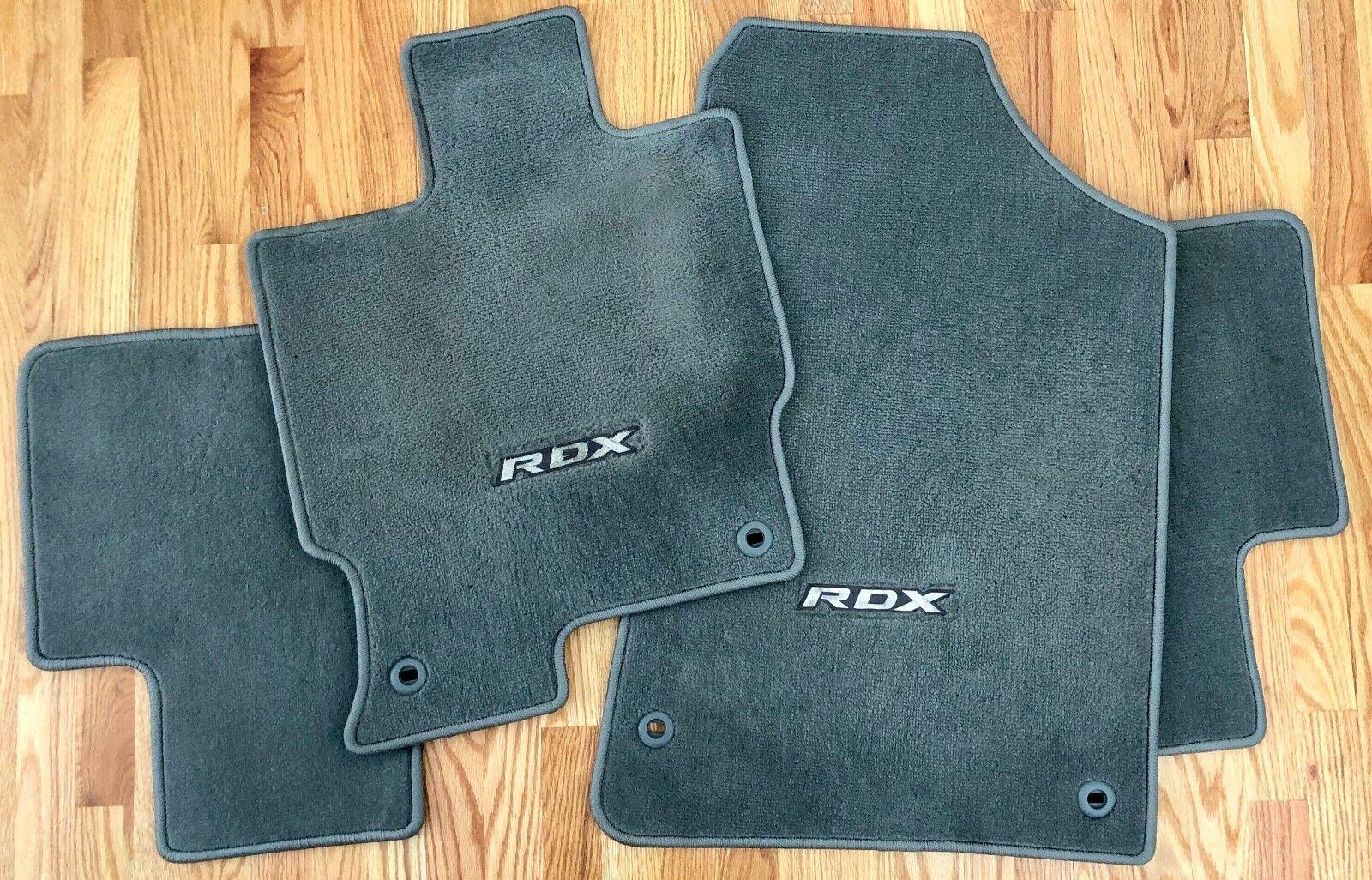 ACURA OEM ORIGINAL RDX 2009-2012 GRAY CARPET x3 FACTORY FLOOR MAT SET!