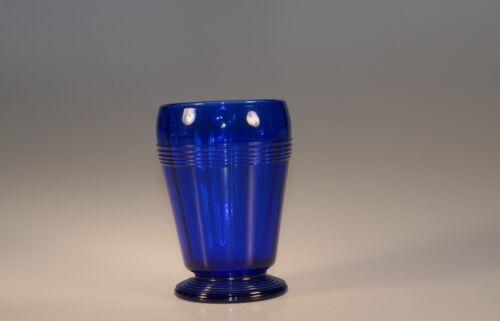 Wonderful Vintage Deco Cobalt Blue Ritz Blue Bar Tumbler Vertical Optic c.1935