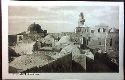 1910's Postcard Jerusalem Mount Zion