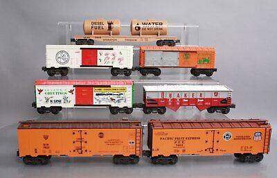 K-Line O Gauge Freight Cars: N&W, PFE, Army, TCA, Quaker, TTOS [7]