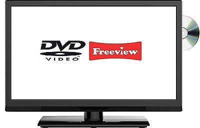 "20"" Inch HD Ready Digital Freeview LED TV DVD Combi USB PVR, HDMI, Scart, VGA 19"