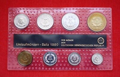 Umlaufmünzen Satz DDR 1990