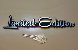 LIMITED EDITION Script Style Self Adhesive Car Bike BADGE 7.5
