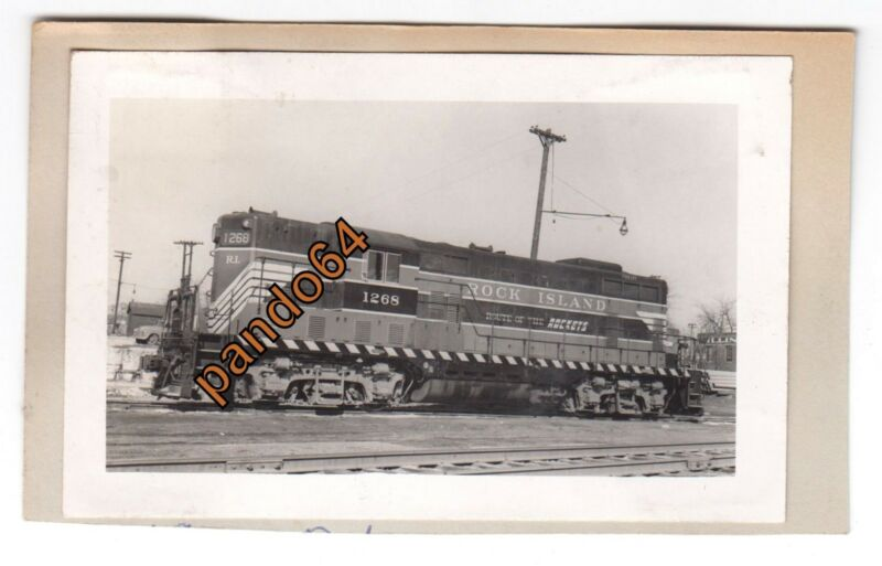 Original B&W Photograph ROCK ISLAND #1268 EMD GP-7 Diesel TP03