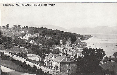 View from Chapel Hill Looking West, ROTHESAY, Isle Of Bute