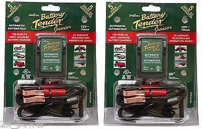 2 PACK! Deltran Battery Tender Jr. 12V Maintainer Charger Tender Junior 021-0123