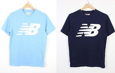 2 x New Balance Mens Logo Graphic T-Shirt Light Blue and Dark Blue T Shirts - S