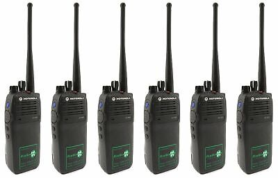 MOTOROLA DP3400 REFURBISHED UHF 4 WATT TWO WAY RADIOS & COVERT EARPIECES x 6